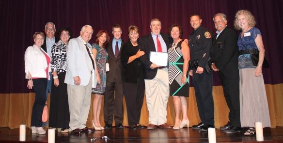 Chief Deborah Faulkner and Craig Owens (center)