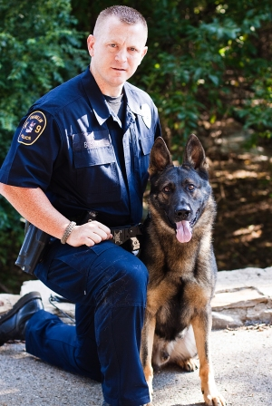 Officer Brette Spivy and Axel