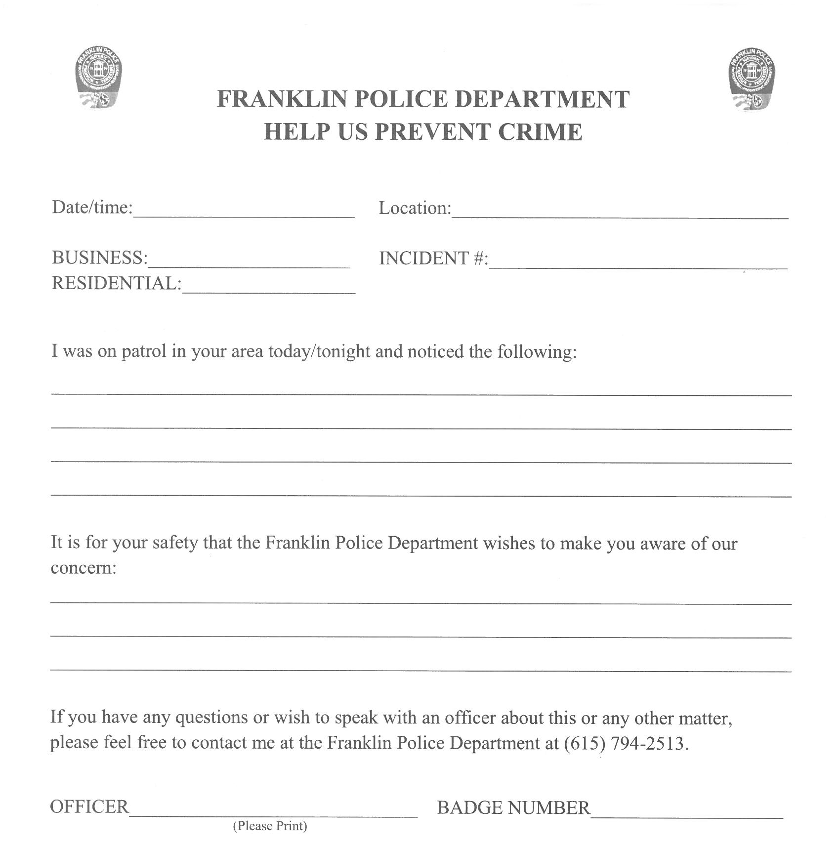 Franklin Police Gearing Up to Keep You Safe This Christmas Shopping