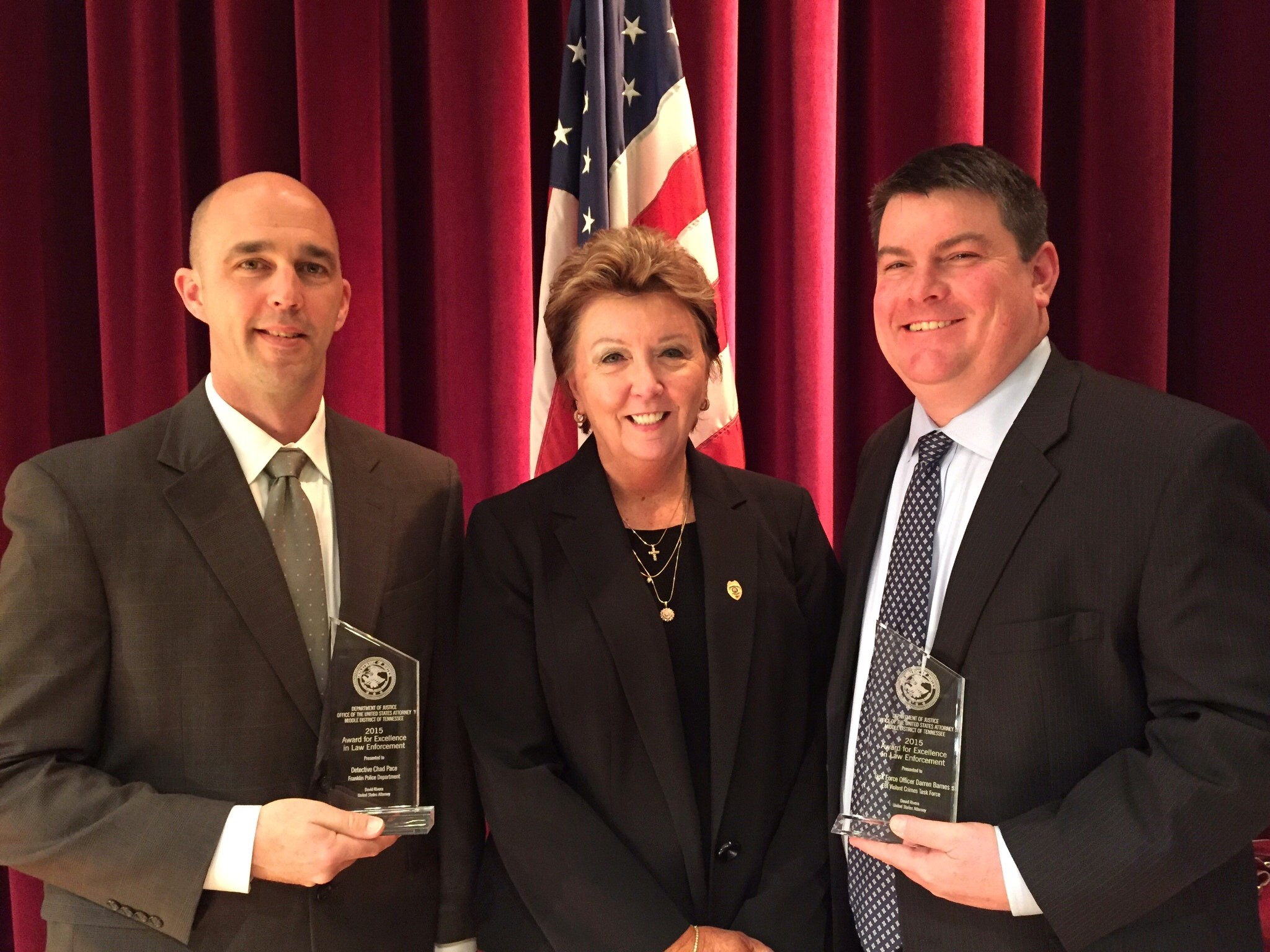 franklin police detectives among those honored by department ofchad pace, chief deborah faulkner, det darren barnes