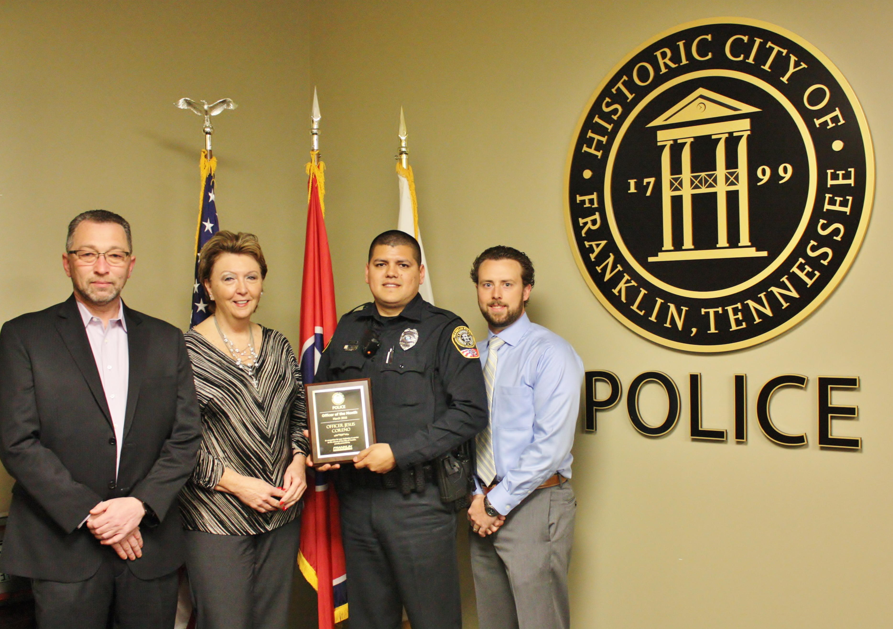 Mark Mclarty Toyota >> FPD Names Coreno Officer of the Month | Franklin Police News