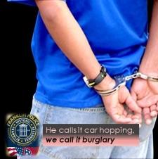 Teen arrested following neighborhood auto burglary