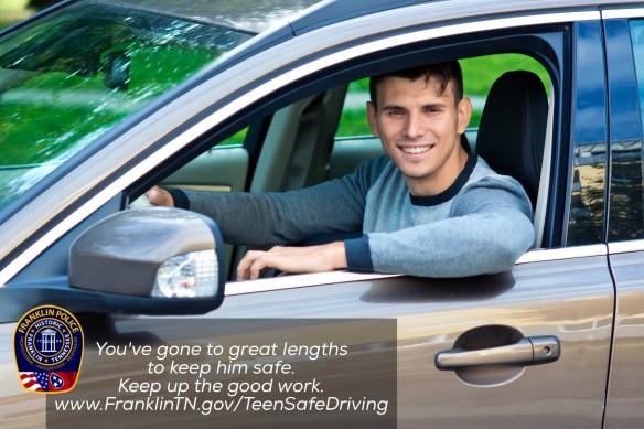 Teen Driver w Banner